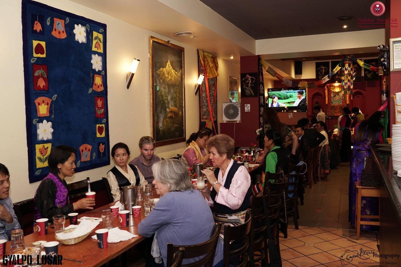Happy Customers enjoying their meal at Gurkhas Brunswick.