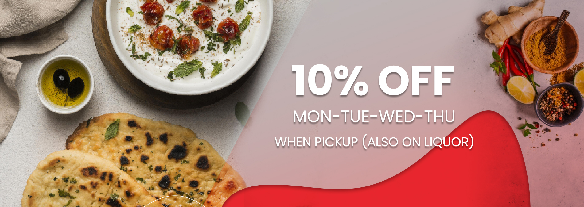 2 10% Off on Takeaway from Restaurant